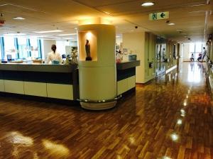 HK hospital hallway