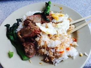 not mushroom fried rice, but not too shabby!